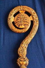 Part of the Staff carved for the Maronite Bishop of Australia